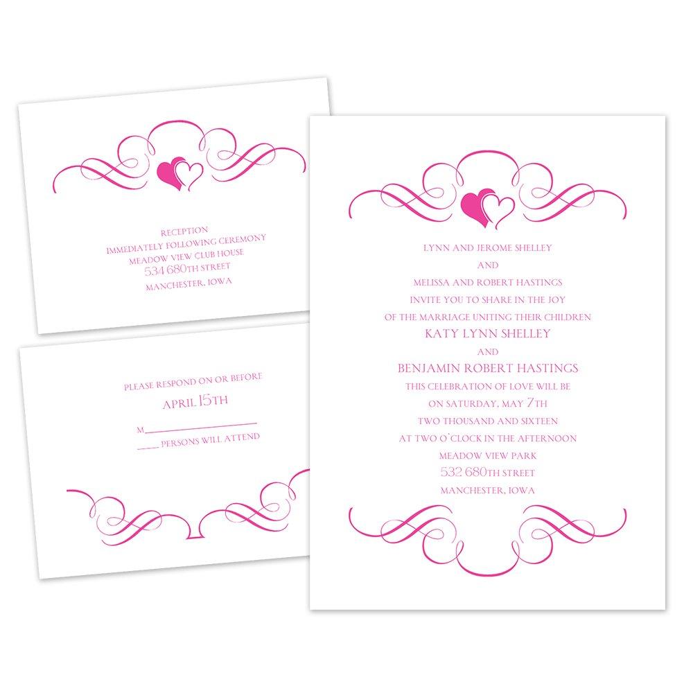 Loving Filigree 3 For 1 Invitation Invitations By Dawn
