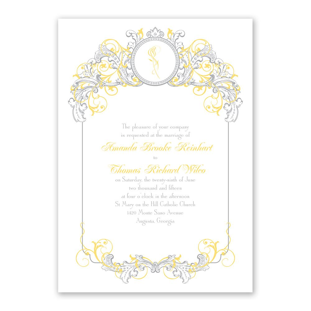 Disney Wedding Invitation: Disney Fairy Tale Filigree Invitation Belle