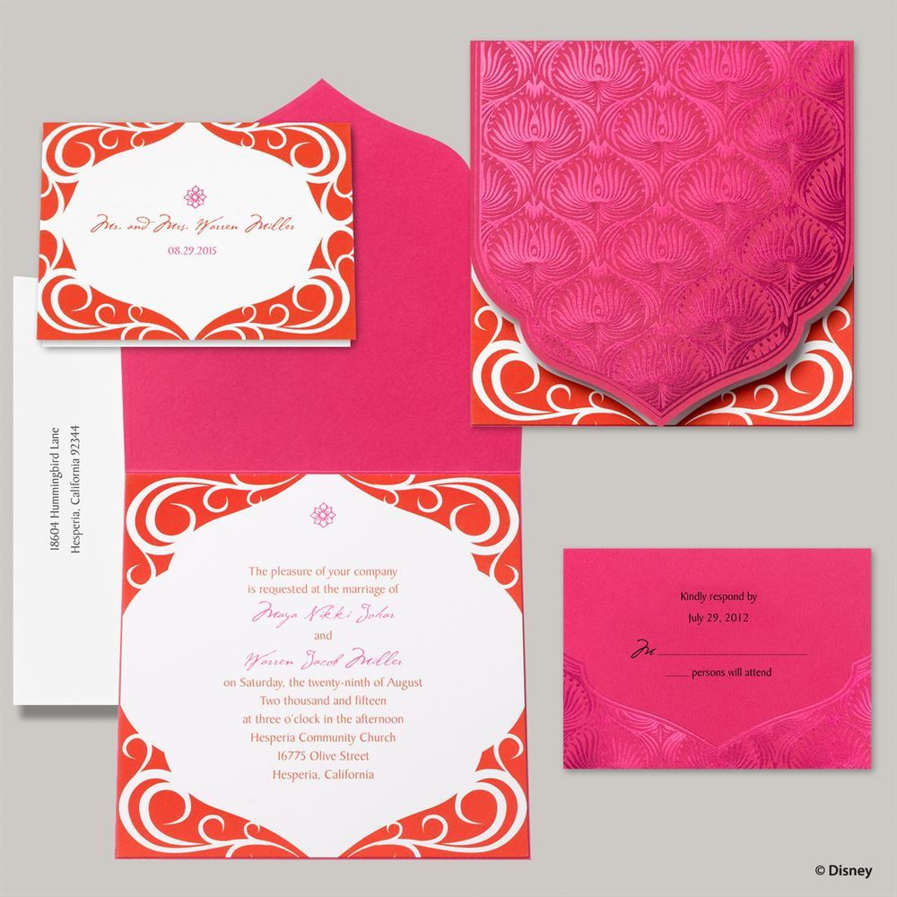 Disney Magical Journey Invitation Jasmine Invitations By Dawn