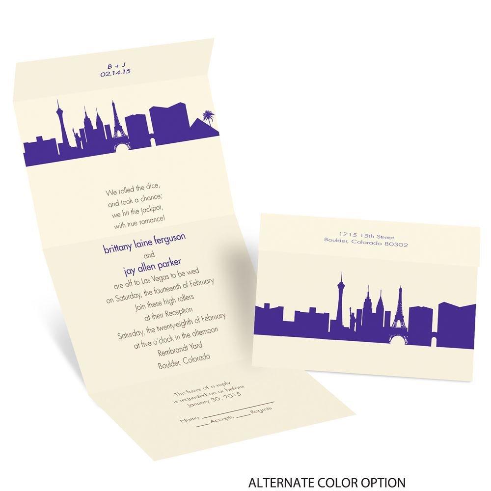 las vegas skyline wedding invitation - 28 images - caesars palace ...