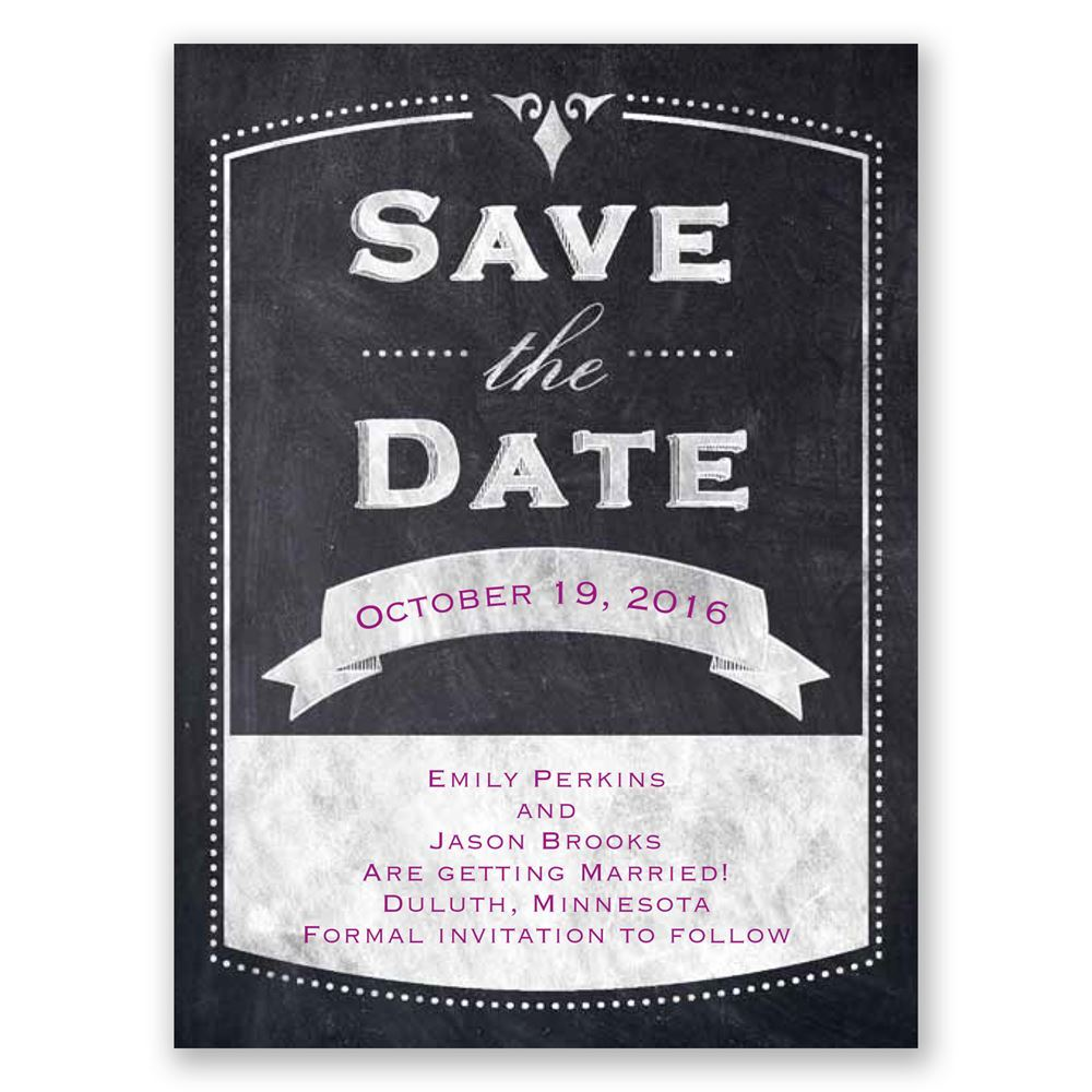 Old School Save the Date Card | Invitations By Dawn