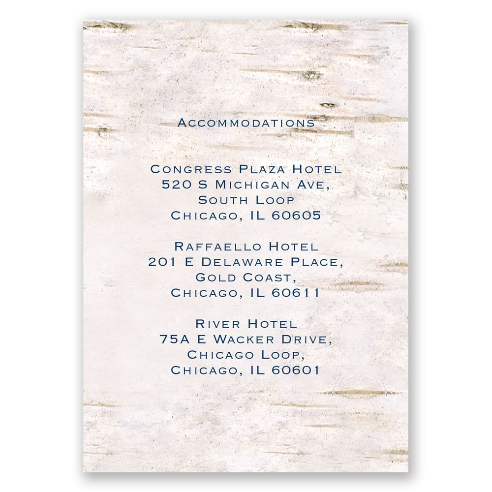 Carved In Love Accommodations Card