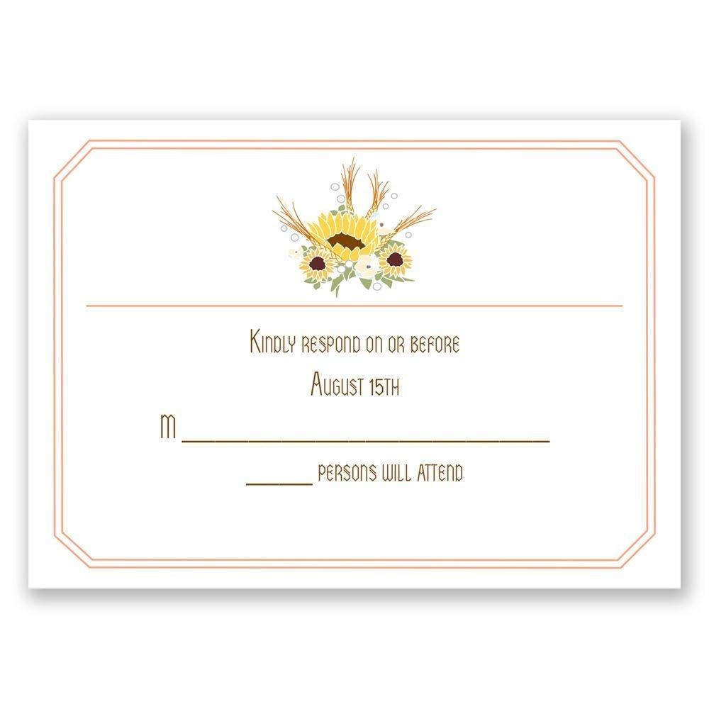 Wedding invitation response card envelope size matik for invitations wedding response cards country sunflowers response card monicamarmolfo Gallery