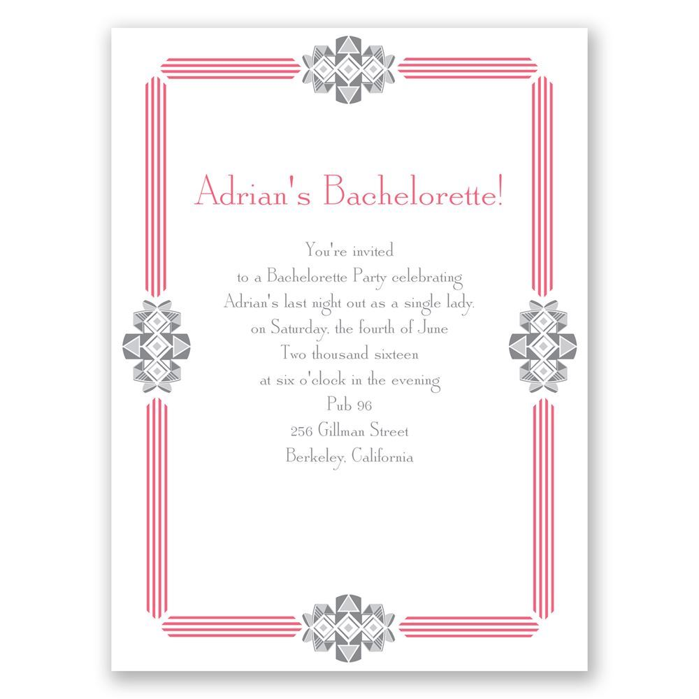 Bling Border Bachelorette Party Invitation – Invitation Bachelorette Party