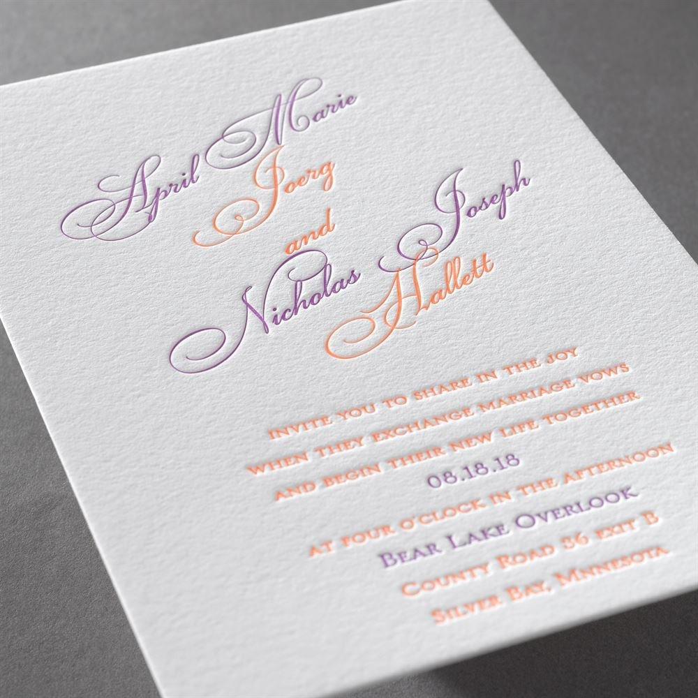 Simply Sensational Letterpress Invitation | Invitations By Dawn