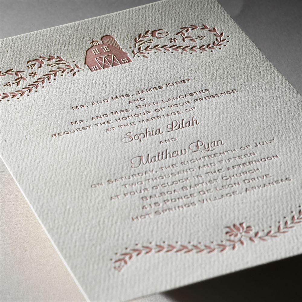 Sweet Barn Featherpress Invitation