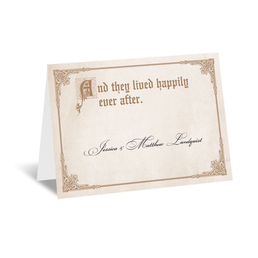 storybook fairy tale note card and envelope