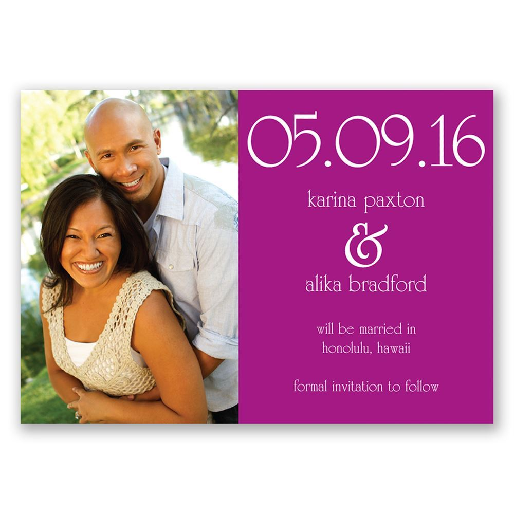 Big Date Save The Date Magnet Invitations By Dawn - Save the date magnet templates