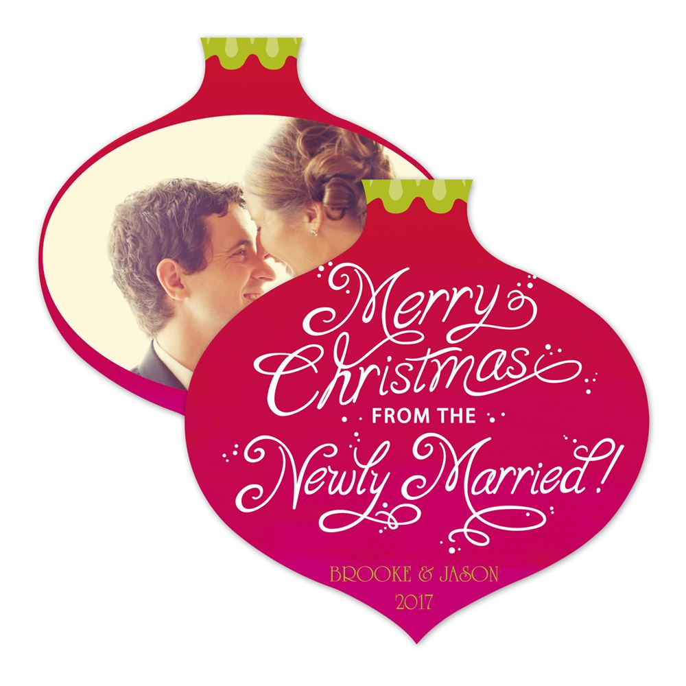 Newly Married Christmas Photo Holiday Card | Invitations By Dawn