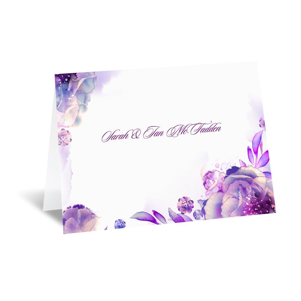 watercolor dream note card and envelope