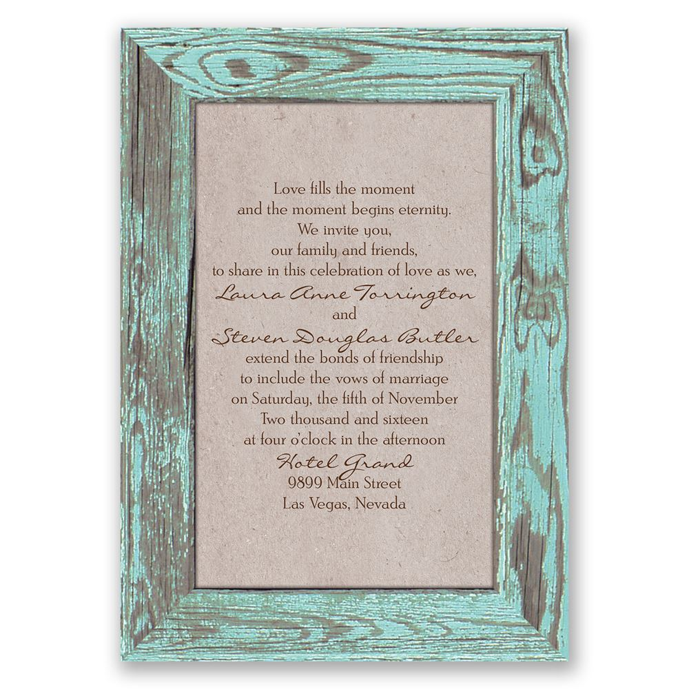 rustic frame invitation - Country Rustic Wedding Invitations