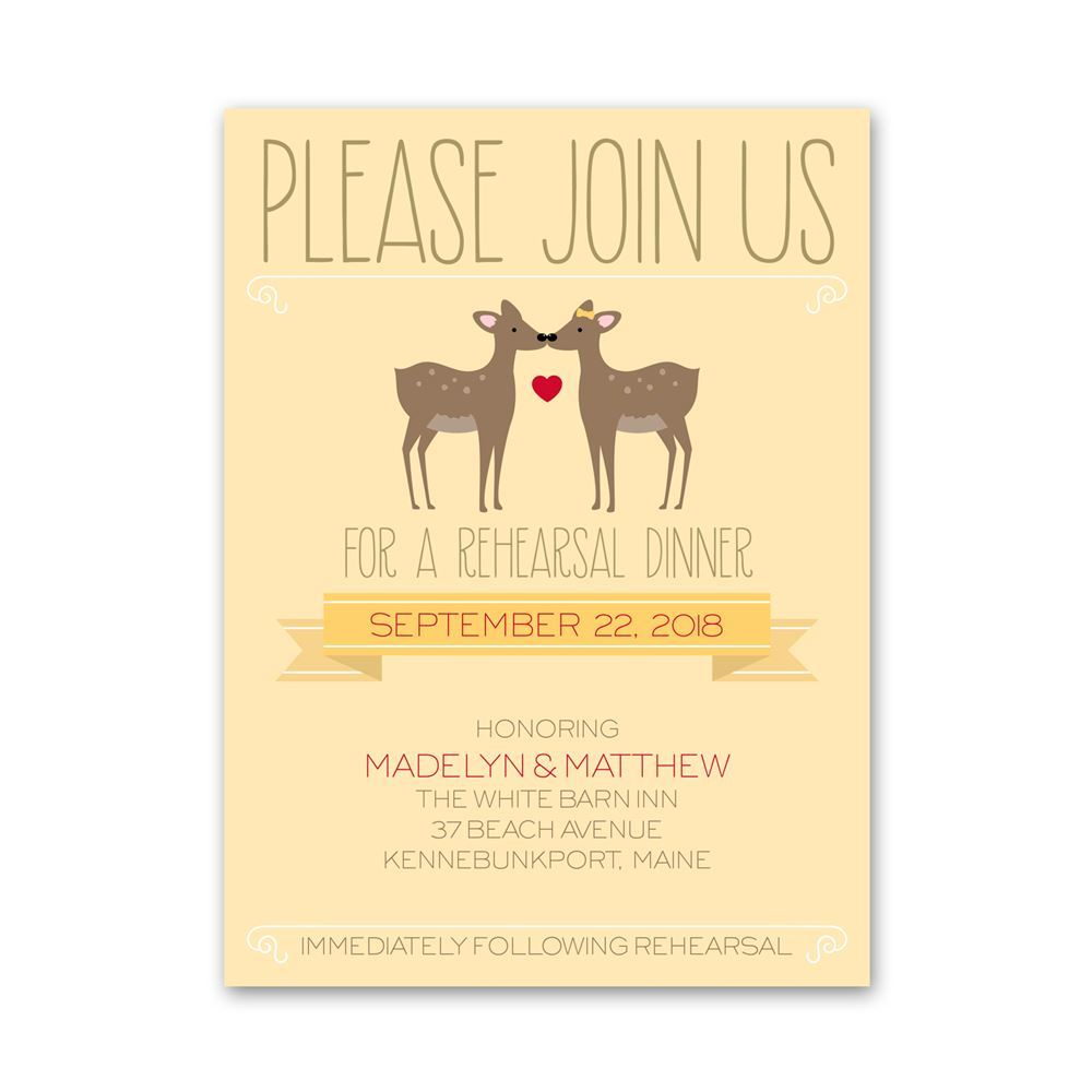 Dear To Me Petite Rehearsal Dinner Invitation Invitations By Dawn