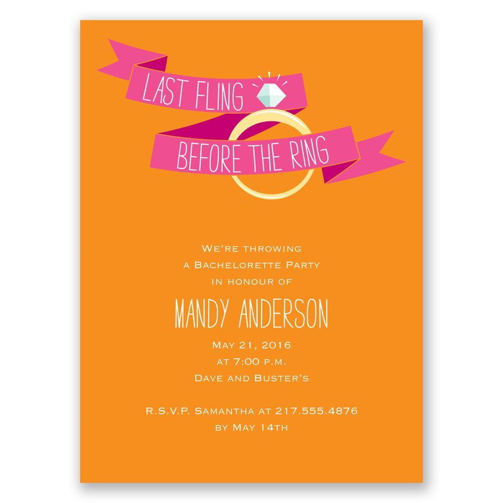 Before the Ring Bachelorette Party Invitation Invitations by Dawn
