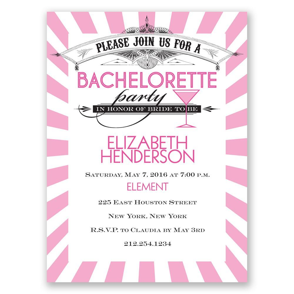 Bachelorette Party Invites