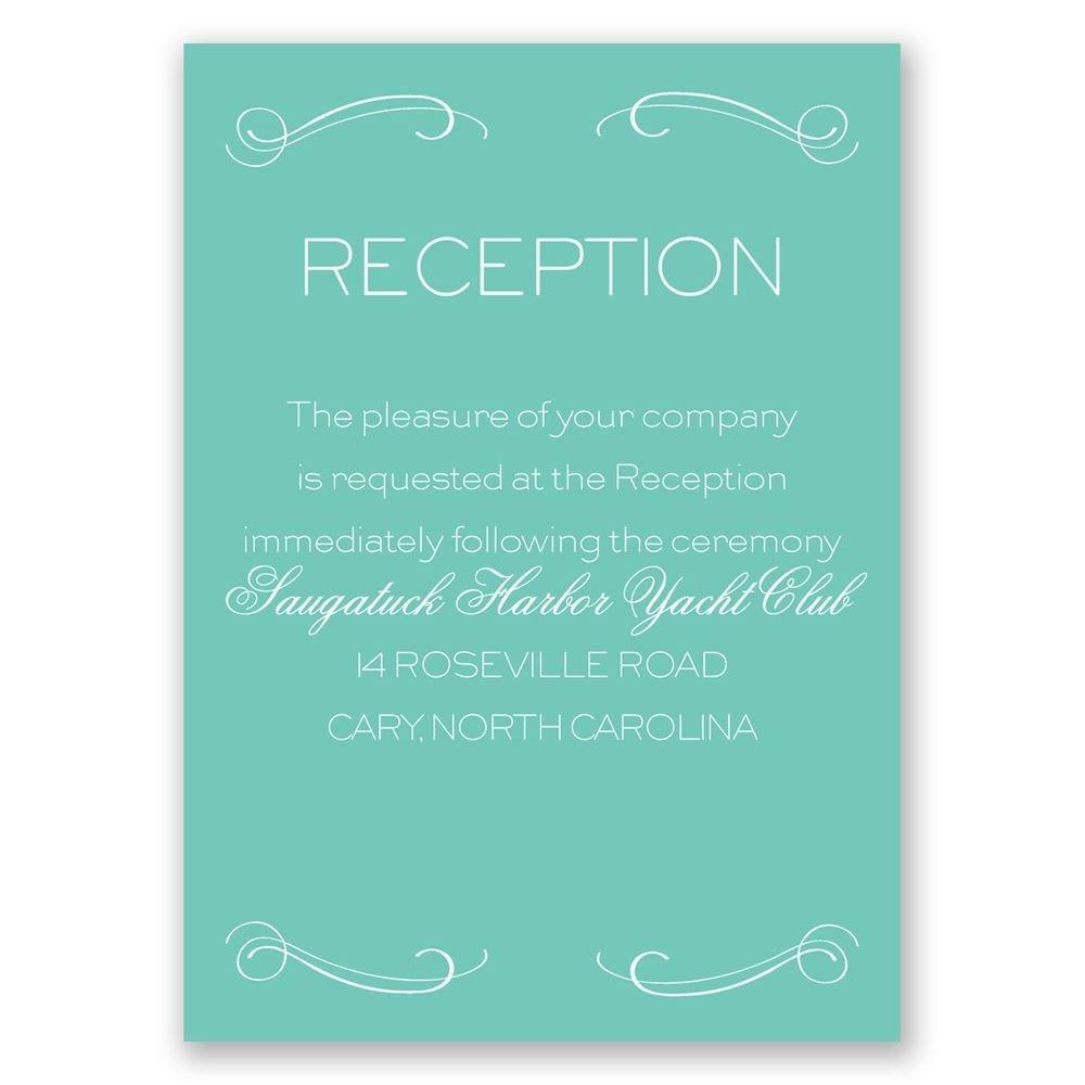 Elegantly Etched Reception Card Invitations By Dawn