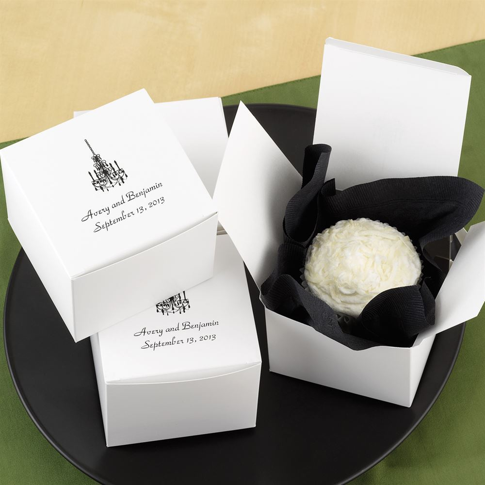 Personalized Take Home Cake Boxes