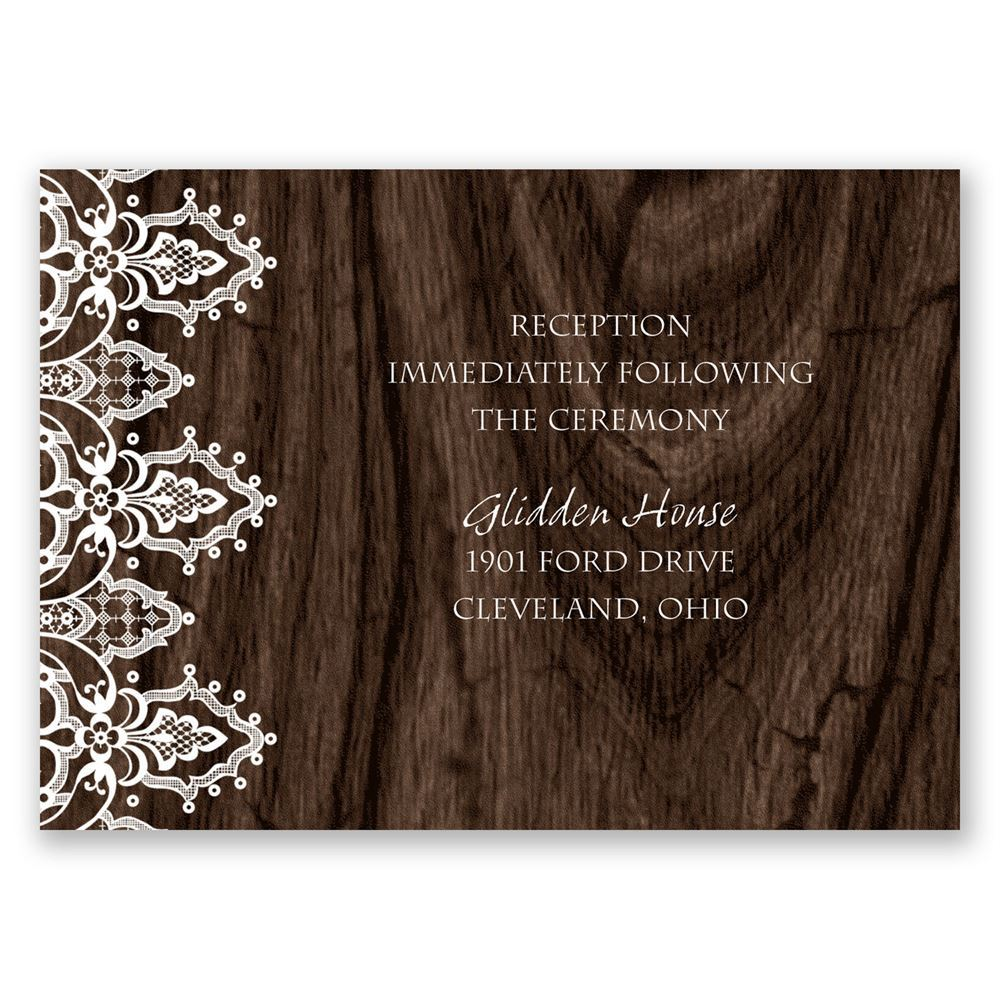 shop personalize gsip wedding response lace border cards