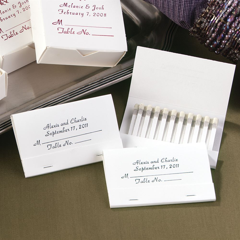 Personalized Place Card Matches | Invitations By Dawn