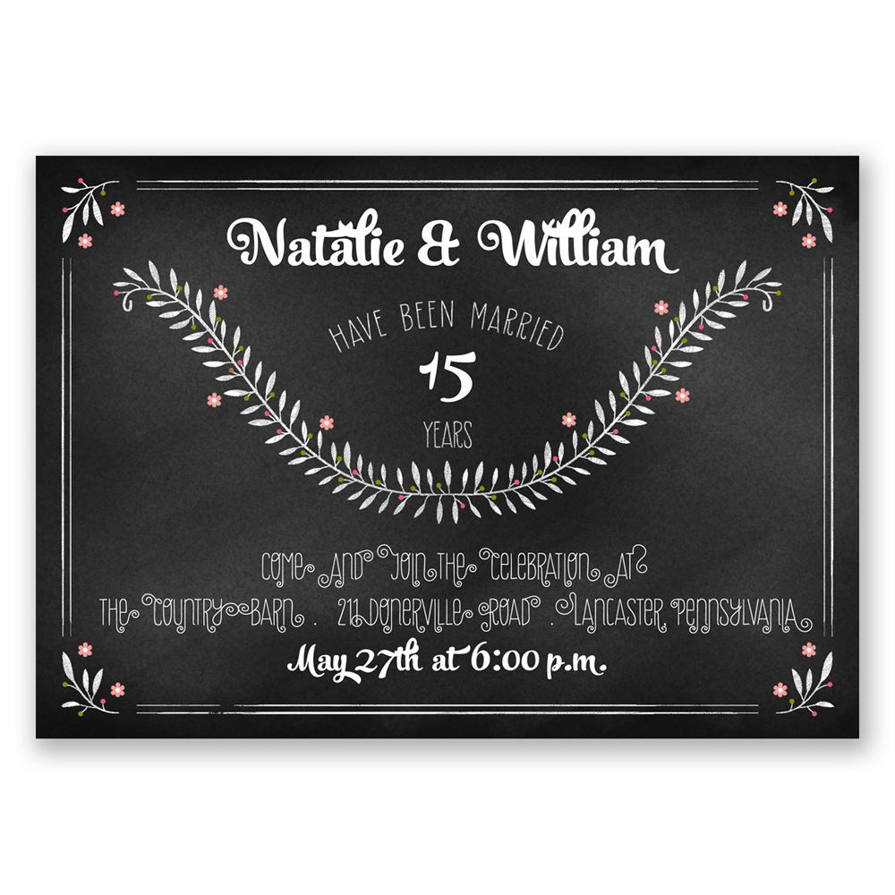 Chalkboard Art Anniversary Invitation – Anniversary Invitations