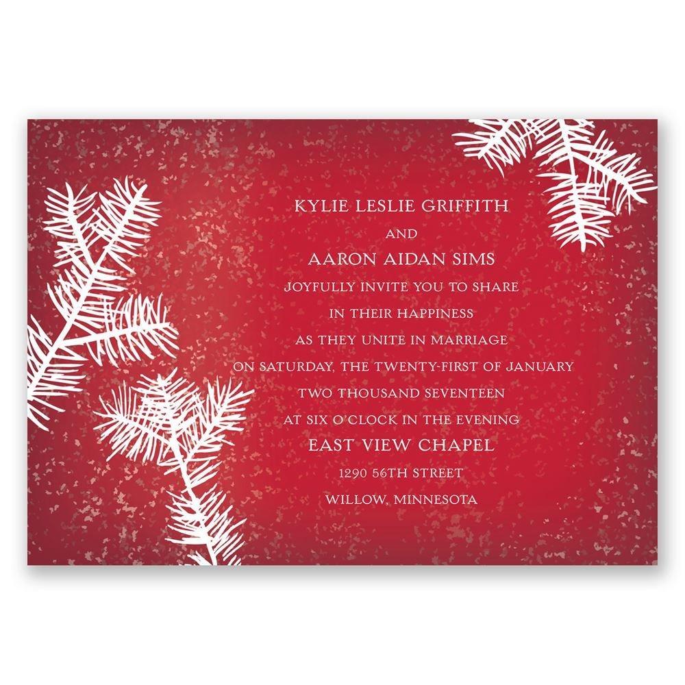 Snowy Pines Invitation | Invitations by Dawn