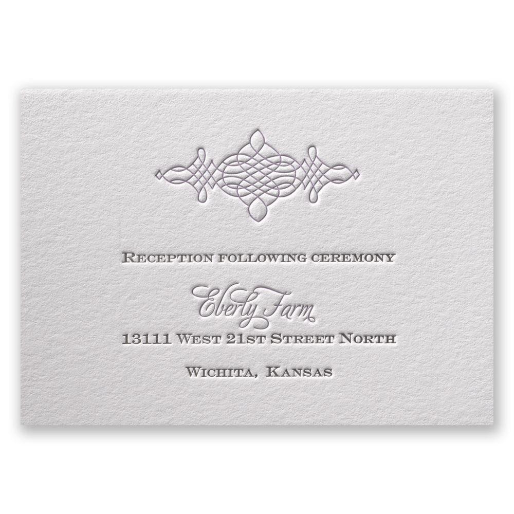 Timeless elegance letterpress reception card invitations by dawn timeless elegance letterpress reception card reheart Images
