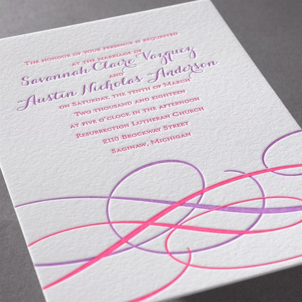 Sweet Swirls Letterpress Invitation | Invitations By Dawn