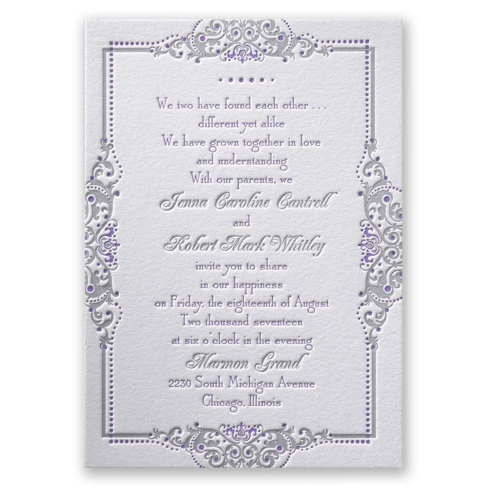 True Beauty Letterpress Invitation Invitations By Dawn