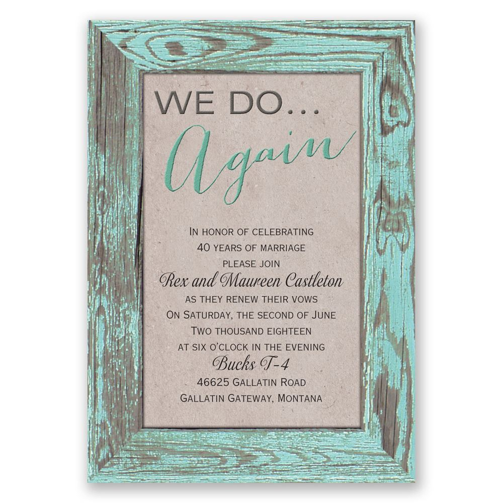 Tried and True Vow Renewal Invitation – Renewal of Vows Invitation Cards