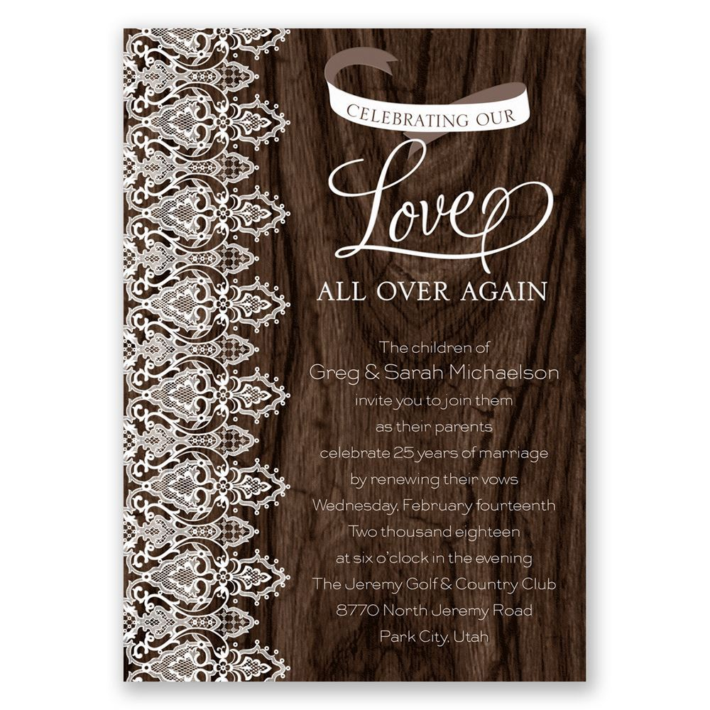 Love And Lace Vow Renewal Invitation Invitations By Dawn