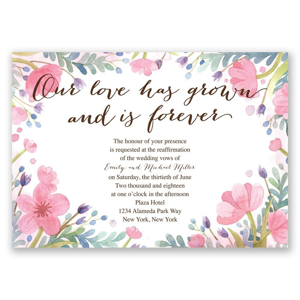 Love Grows Vow Renewal Invitation | Invitations By Dawn