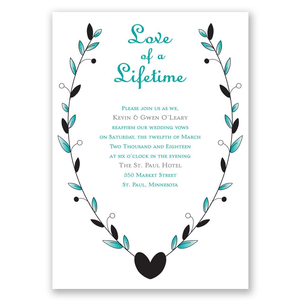 Love Of A Lifetime Vow Renewal Invitation Invitations By Dawn