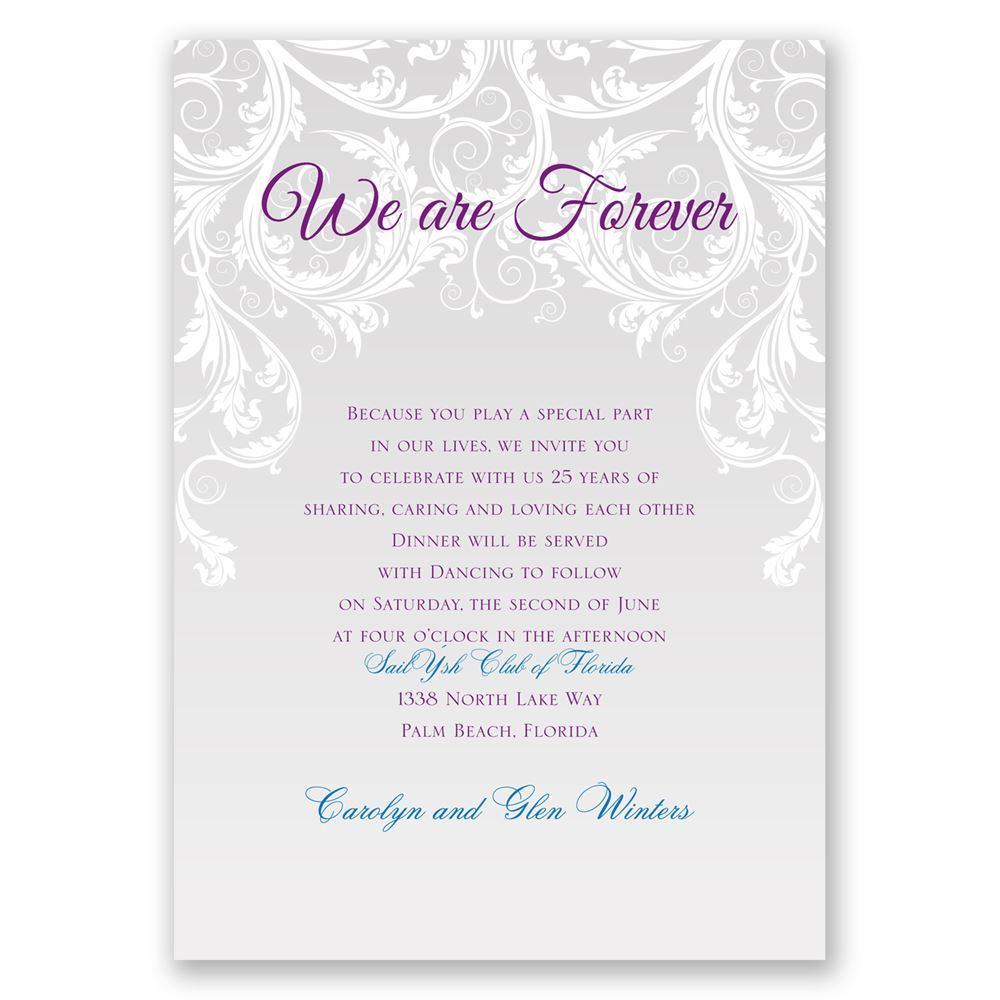 we are forever vow renewal invitation