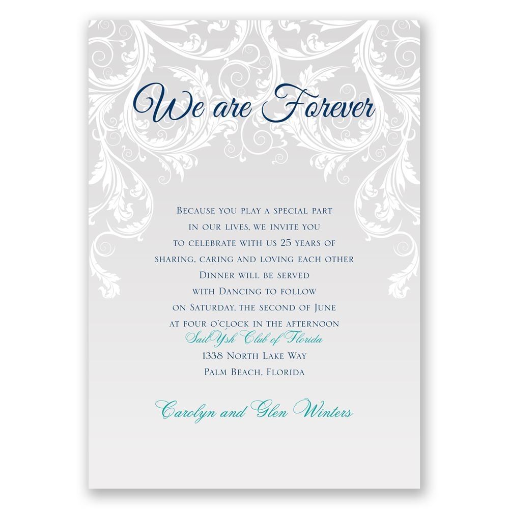 We Are Forever Vow Renewal Invitation on love quotes and sayings for her