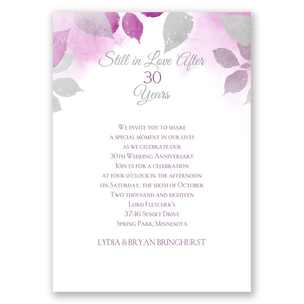 Years Go By Anniversary Invitation | Invitations by Dawn