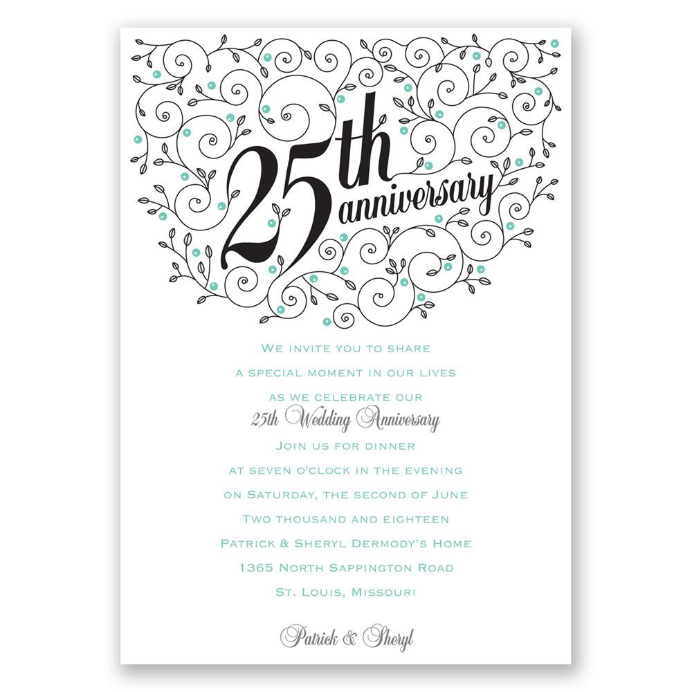 25Th Anniversary Invitation Wording for nice invitations sample