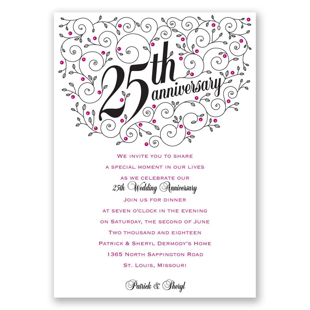 Forever filigree 25th anniversary invitation invitations by dawn forever filigree 25th anniversary invitation stopboris Gallery
