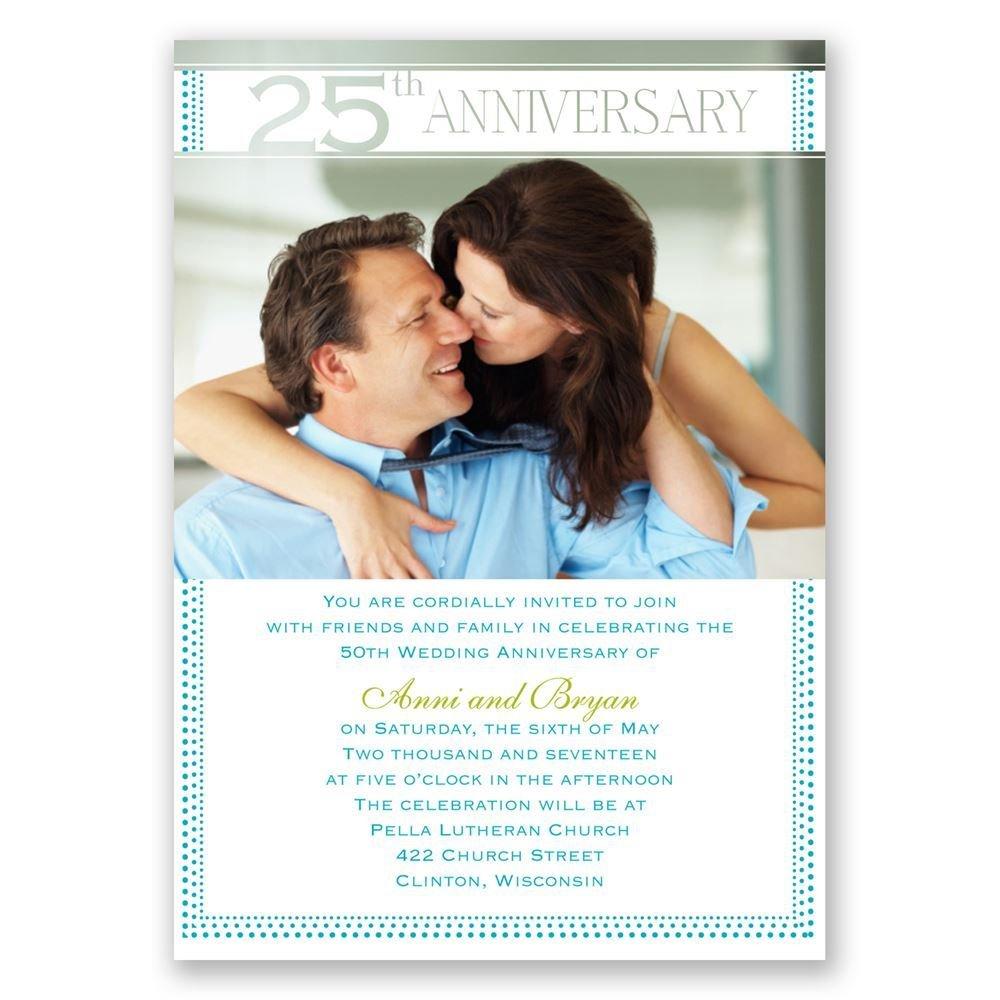 grand presentation 25th anniversary invitation invitations by dawn