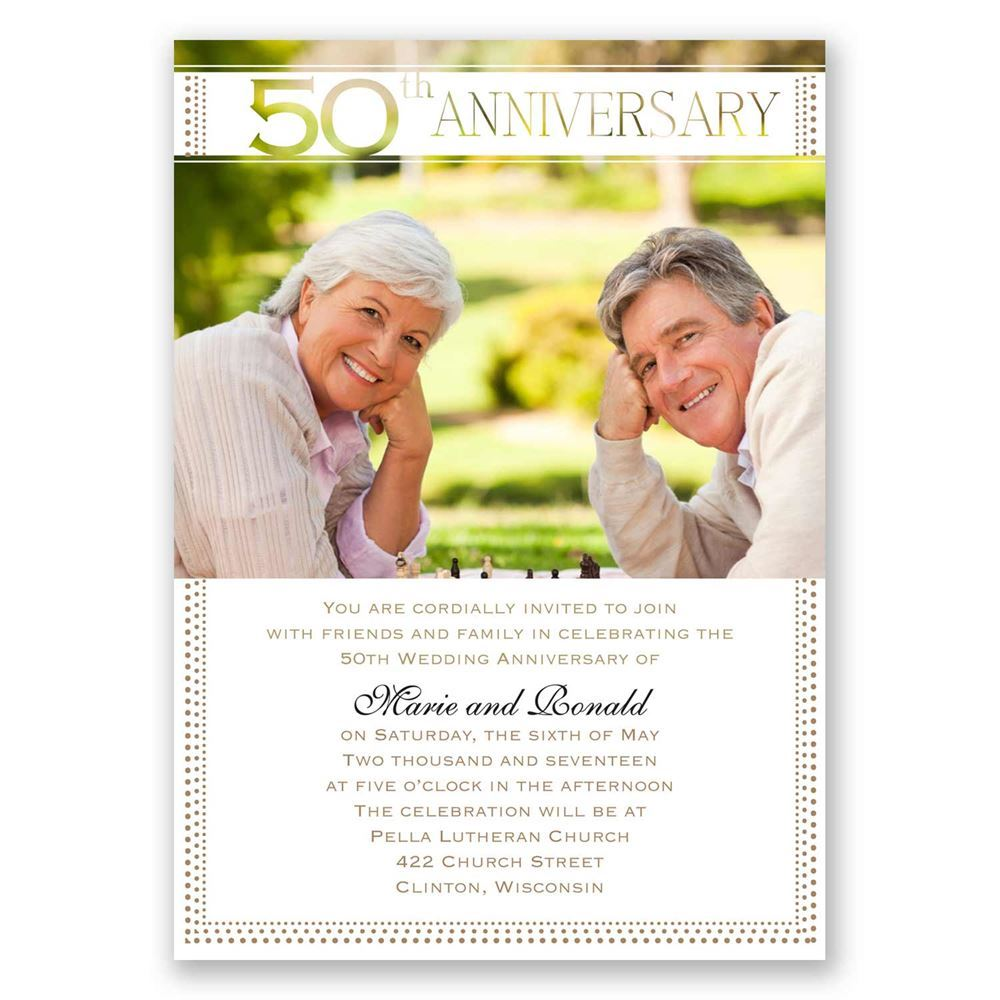 Grand Presentation 50th Anniversary Invitation Invitations By Dawn