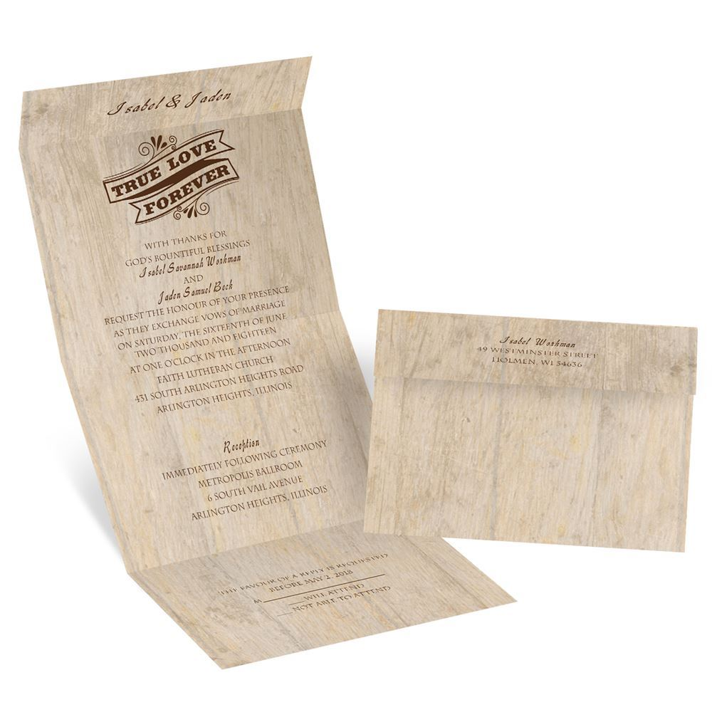 Choose Your Design Rustic Seal and Send Invitation Invitations By Dawn