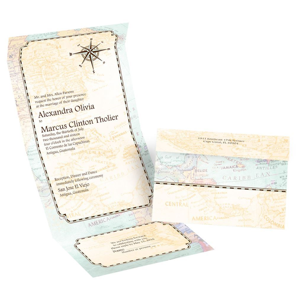 When To Send Out Wedding Invitations For Destination Wedding: Amazing Journey Seal And Send Invitation