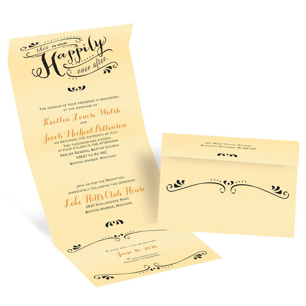 Our Ever After Seal And Send Invitation Invitations By Dawn