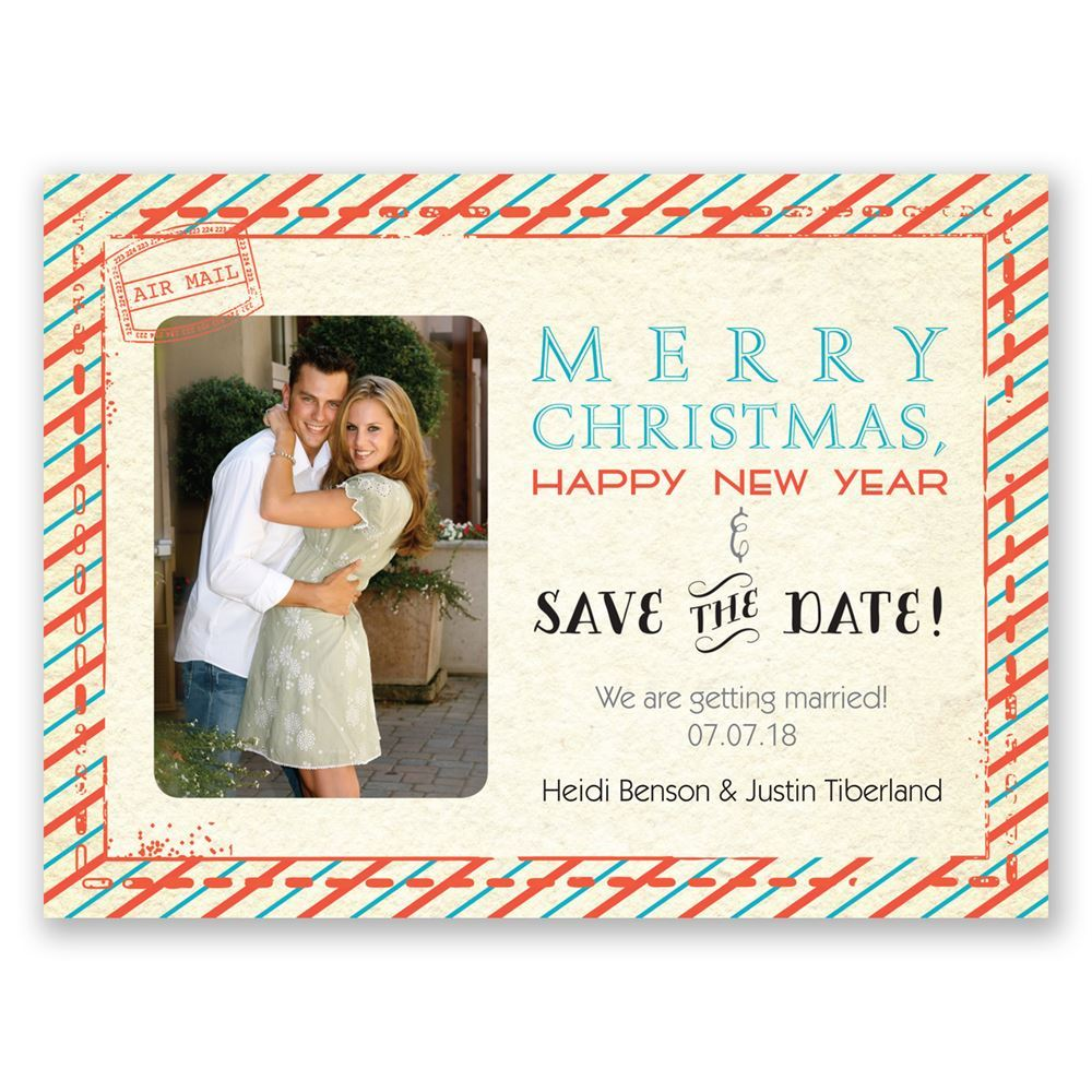 Christmas Save The Date Cards.Sassy Stripes Holiday Card Save The Date