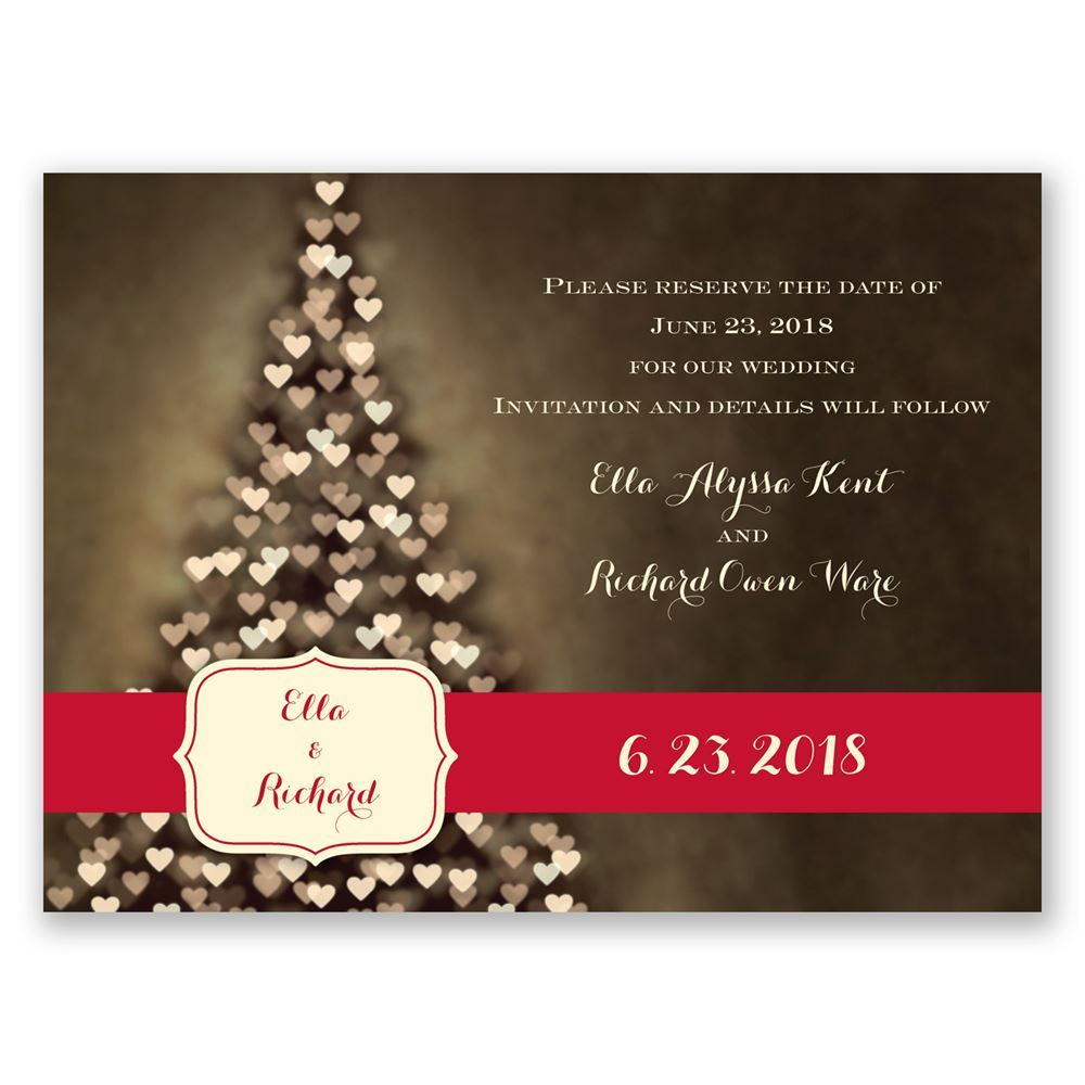 Christmas Save The Date Cards.All Aglow Holiday Card Save The Date