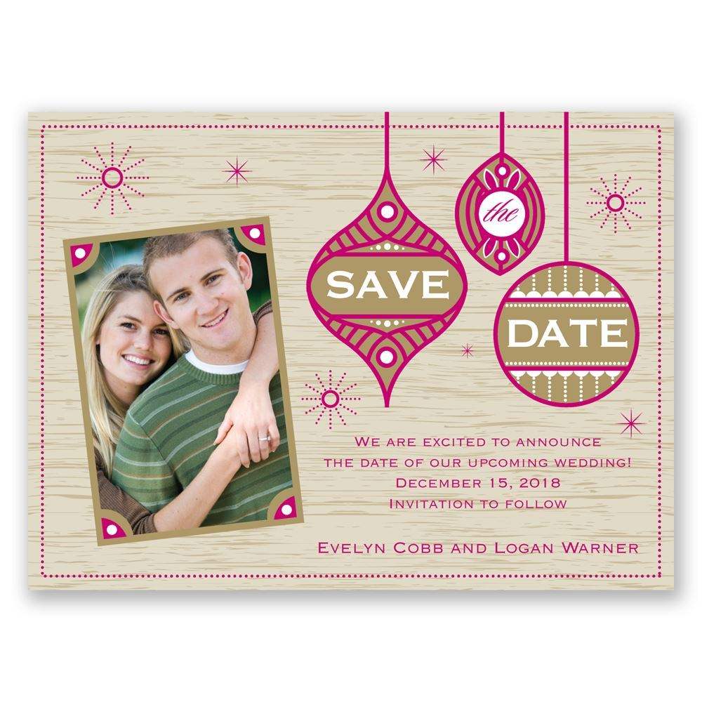 retro holiday holiday card save the date | invitationsdawn