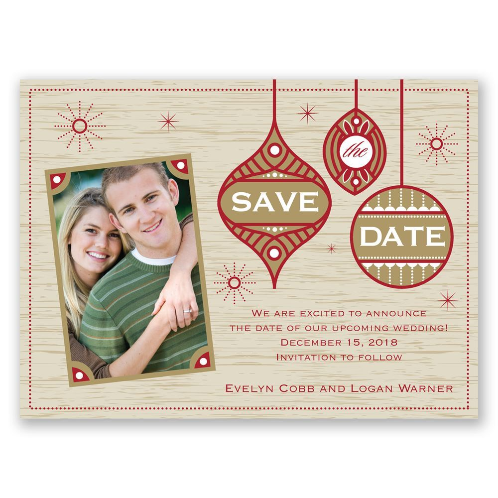 Retro Holiday Holiday Card Save the Date | Invitations By Dawn