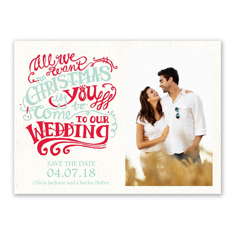 Christmas Wish Holiday Card Save The Date Invitations By