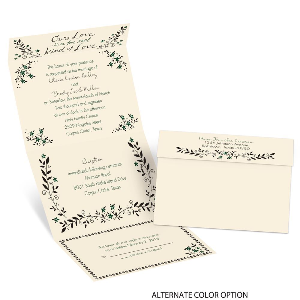 Cheap Send And Seal Wedding Invitations: Our Love Seal And Send Invitation
