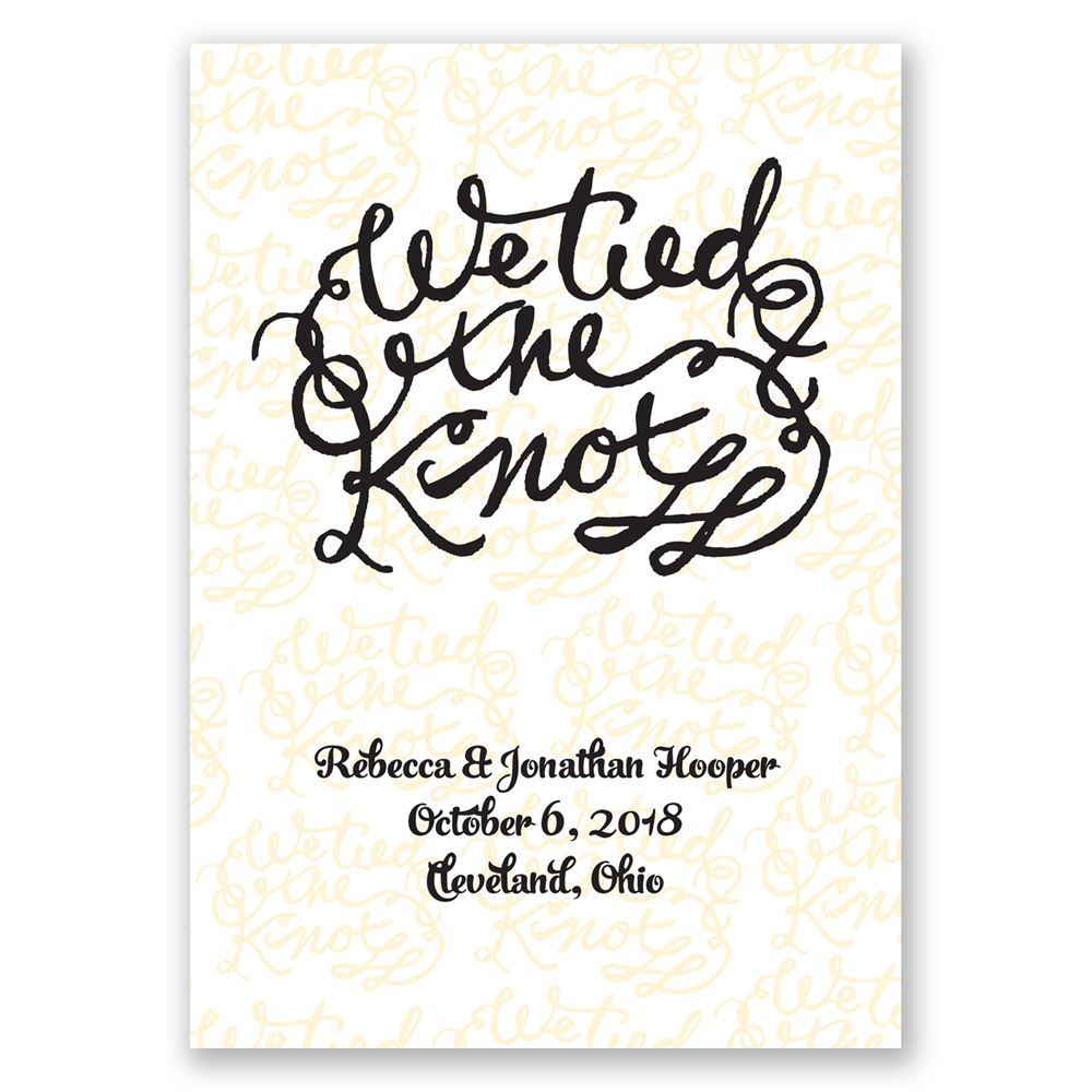 Tied the Knot Wedding Announcement | Invitations By Dawn