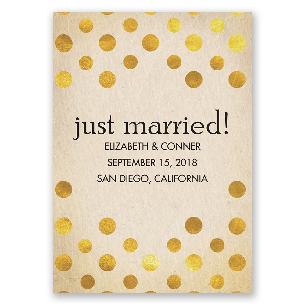 polka dot love wedding announcement invitations by dawn