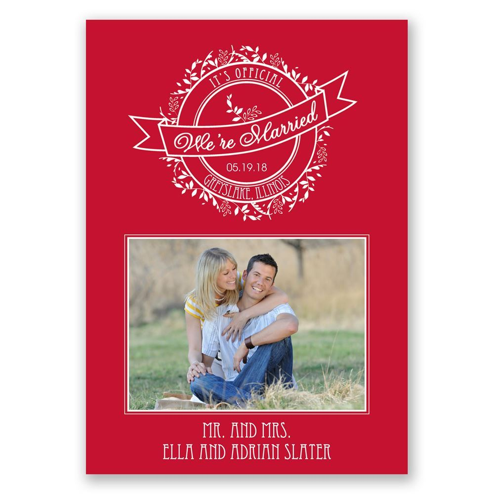 It\'s Official Wedding Announcement | Invitations By Dawn